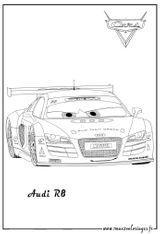 Imprimer le coloriage : Audi, numéro 105531