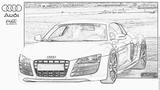 Imprimer le coloriage : Audi, numéro 105533