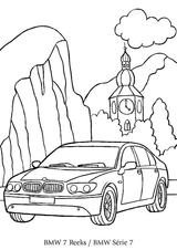 Imprimer le coloriage : BMW, numéro 105545