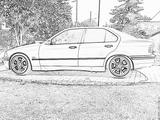 Imprimer le coloriage : BMW, numéro 105556