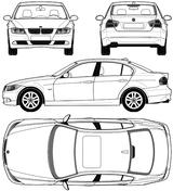 Imprimer le coloriage : BMW, numéro 114603