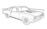 Imprimer le coloriage : Dodge, numéro 104721