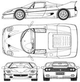 Imprimer le coloriage : Ferrari, numéro 105720