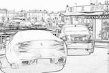 Imprimer le coloriage : Ferrari, numéro 105723