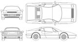 Imprimer le coloriage : Ferrari, numéro 105729