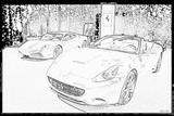 Imprimer le coloriage : Ferrari, numéro 105740