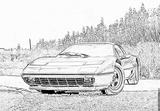 Imprimer le coloriage : Ferrari, numéro 105745