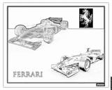 Imprimer le coloriage : Ferrari, numéro 105749