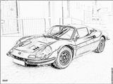 Imprimer le coloriage : Ferrari, numéro 105756