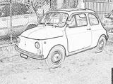 Imprimer le coloriage : Fiat, numéro 104730
