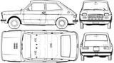Imprimer le coloriage : Fiat, numéro 104741
