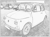 Imprimer le coloriage : Fiat, numéro 104758
