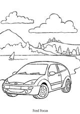 Imprimer le coloriage : Ford, numéro 104772