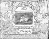 Imprimer le coloriage : Ford, numéro 104779
