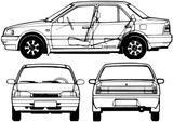 Imprimer le coloriage : Mazda, numéro 104988
