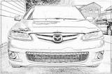 Imprimer le coloriage : Mazda, numéro 104989