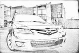 Imprimer le coloriage : Mazda, numéro 104999