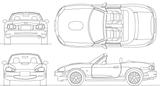 Imprimer le coloriage : Mazda, numéro 105002