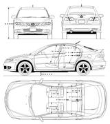 Imprimer le coloriage : Mazda, numéro 105011
