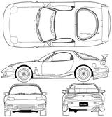 Imprimer le coloriage : Mazda, numéro 105013