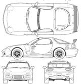 Imprimer le coloriage : Mazda, numéro 105014