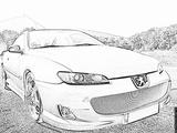 Imprimer le coloriage : Peugeot, numéro 105172
