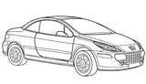 Imprimer le coloriage : Peugeot, numéro 125634