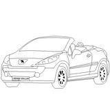 Imprimer le coloriage : Peugeot, numéro 24656