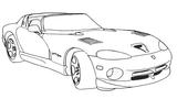 Imprimer le coloriage : Porsche, numéro 104688