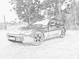 Imprimer le coloriage : Porsche, numéro 106185