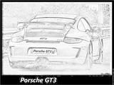 Imprimer le coloriage : Porsche, numéro 106187