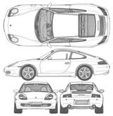 Imprimer le coloriage : Porsche, numéro 106189