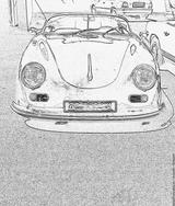 Imprimer le coloriage : Porsche, numéro 106191