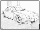 Imprimer le coloriage : Porsche, numéro 106194