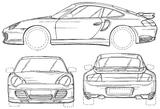 Imprimer le coloriage : Porsche, numéro 106195
