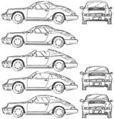 Imprimer le coloriage : Porsche, numéro 106196