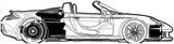 Imprimer le coloriage : Porsche, numéro 106197