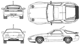 Imprimer le coloriage : Porsche, numéro 106208