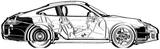Imprimer le coloriage : Porsche, numéro 106209