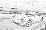 Imprimer le coloriage : Porsche, numéro 106215