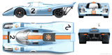 Imprimer le dessin en couleurs : Porsche, numéro 110592