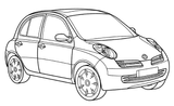 Imprimer le coloriage : Renault, numéro 105100