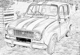 Imprimer le coloriage : Renault, numéro 105219