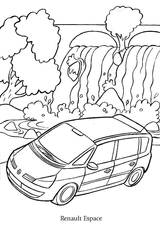 Imprimer le coloriage : Renault, numéro 105225