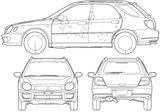 Imprimer le coloriage : Subaru, numéro 105295