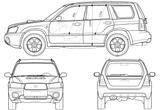 Imprimer le coloriage : Subaru, numéro 105300