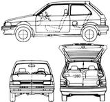 Imprimer le coloriage : Subaru, numéro 105301