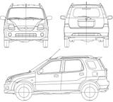 Imprimer le coloriage : Subaru, numéro 105308