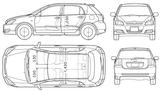 Imprimer le coloriage : Toyota, numéro 105340