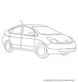 Imprimer le coloriage : Toyota, numéro 105361